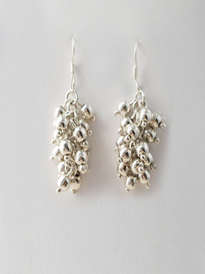 Cascading Bunch Of Sterling Silver Mexican Earrings